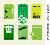 soccer card. vector... | Shutterstock .eps vector #141411595