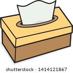 tissue paper box   vector and... | Shutterstock .eps vector #1414121867