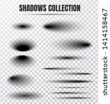 realistic circular shadow... | Shutterstock .eps vector #1414158467