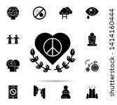 heart  peace  flower icon.... | Shutterstock .eps vector #1414160444