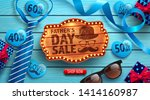 happy father's day flat lay... | Shutterstock .eps vector #1414160987
