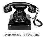 Old Vintage Phone Isolated On...