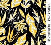 modern exotic seamless pattern. ... | Shutterstock .eps vector #1414192514