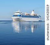 cruise ferry ship sailing in... | Shutterstock . vector #141420019
