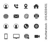 vector set of business icons. | Shutterstock .eps vector #1414203431