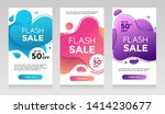 flash sale banners with abtract ... | Shutterstock .eps vector #1414230677