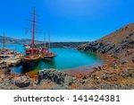 greece santorini island in... | Shutterstock . vector #141424381