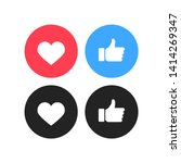 thumbs up and heart icon on a... | Shutterstock .eps vector #1414269347