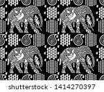 seamless black and white... | Shutterstock .eps vector #1414270397