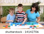 teacher two preschoolers and... | Shutterstock . vector #14142706