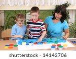 teacher two preschoolers and... | Shutterstock . vector #14142706