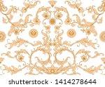seamless pattern  background in ... | Shutterstock .eps vector #1414278644