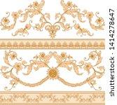 seamless pattern  background in ... | Shutterstock .eps vector #1414278647