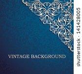 Vintage background with designed corner, card, invitation, album cover