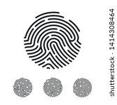 Circle Unique Fingerprint Icon...