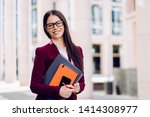 beautiful brunette business... | Shutterstock . vector #1414308977