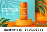 moisture sunscreen ads on... | Shutterstock .eps vector #1414309961