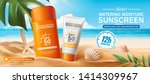 sunscreen ads on beautiful... | Shutterstock .eps vector #1414309967