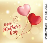 happy mother's day background... | Shutterstock .eps vector #1414312061