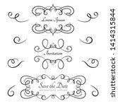 vintage calligraphic flourishes ... | Shutterstock .eps vector #1414315844