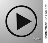 play button | Shutterstock .eps vector #141431779