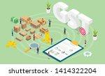 gst goods services tax concept... | Shutterstock .eps vector #1414322204