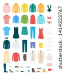 clothes and accessories vector... | Shutterstock .eps vector #1414323767