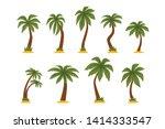 flat vector set of cartoon... | Shutterstock .eps vector #1414333547