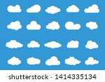 set of vector cloud icons....