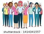 diversity women characters...   Shutterstock .eps vector #1414341557