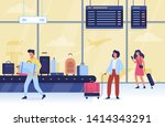 people in the airport. idea of... | Shutterstock .eps vector #1414343291