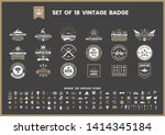 vintage retro vector for banner ... | Shutterstock .eps vector #1414345184