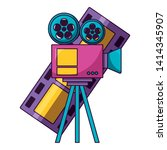 projector and film strip cinema ...   Shutterstock .eps vector #1414345907