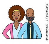 diversity man and woman... | Shutterstock .eps vector #1414350341