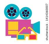 projector 3d glasses cinema...   Shutterstock .eps vector #1414360007