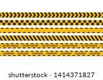 cauntion or danger tape...   Shutterstock .eps vector #1414371827
