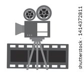 projector and film strip cinema ...   Shutterstock .eps vector #1414372811
