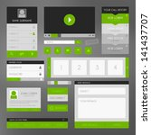 flat design user interface kit