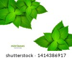 fresh mint on a white... | Shutterstock .eps vector #1414386917