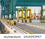 Giant Wharf Cranes In Container ...
