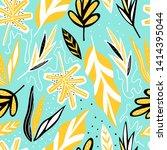 modern exotic seamless pattern. ... | Shutterstock .eps vector #1414395044