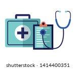 medical suitcase stethoscope... | Shutterstock .eps vector #1414400351