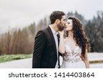 attractive young bride dressed...   Shutterstock . vector #1414403864