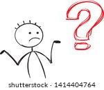 Asking Worried Uncertain Man...