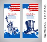 Banners Of 4th July Background...