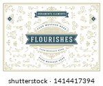 vintage ornaments swirls and... | Shutterstock .eps vector #1414417394