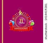 11 years anniversary   modern...   Shutterstock .eps vector #1414419281