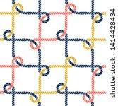 seamless nautical rope pattern. ...   Shutterstock .eps vector #1414428434