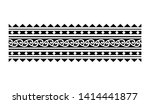 tribal pattern tattoo ... | Shutterstock .eps vector #1414441877