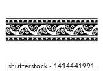 ethnic tribal border polynesian ... | Shutterstock .eps vector #1414441991